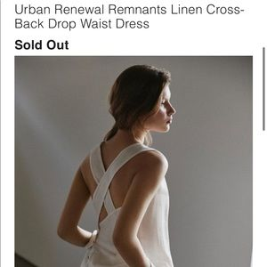 Urban Renewal Remnants Linen Cross-Back Dress